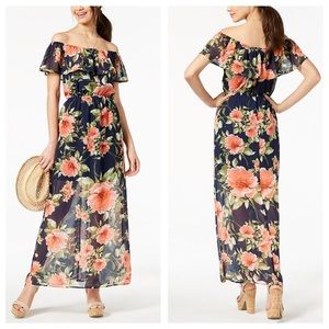 Georgeous Off-the-Shoulder Floral Maxi